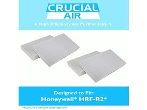 4PK Honeywell HRF-R2 Air Purifier Filters Fit HPA-090, HPA-100, HPA200 & HPA300 Series, Designed & Engineered by Crucial Air