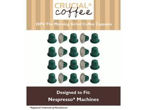 20 High Performance Replacement Coffee Capsules for Use in Most Nespresso Machines, The Morning Grind is Designed & Engineered by Crucial Coffee
