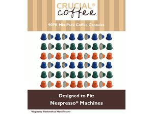 90 High Performance Replacement Coffee Capsules Variety Pack for Use in Most Nespresso Machines, The Morning Grind, Afternoon Hustle & The Closer are Designed & Engineered by Crucial Coffee