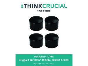 4 Briggs & Stratton 492932 Oil Filters, Fits Oregon 83-013, John Deere LG492932S & Kohler 25-050-01 28-050-01, Designed & Engineered by Think Crucial