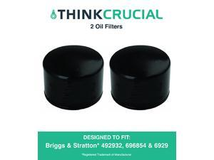 2 Briggs & Stratton 492932 Oil Filters, Fits Oregon 83-013, John Deere LG492932S & Kohler 25-050-01 28-050-01, Designed & Engineered by Think Crucial