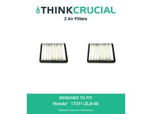 2 Honda 17211-ZL8-023, 17211-ZL8-000,17211-ZL8-003, Stens 102-713, Napa 7-08383 Air Filter, Designed & Engineered by Think Crucial