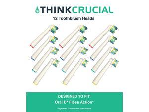12 Oral-B Floss Action Electric Toothbrush Head Replacements, Part # EB-25A