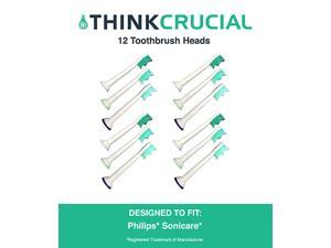 12 Philips Sonicare Replacement Electric Toothbrush Heads, Part # HX-6013
