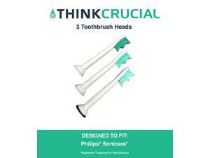 3 Philips Sonicare Replacement Electric Toothbrush Heads, Part # HX-6013