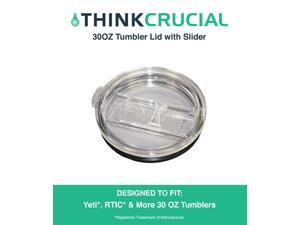 30 OZ Tumbler Lid with Slider Fits Yeti, Rtic & Other 30OZ Tumblers