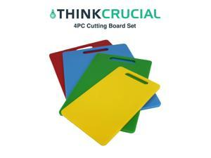 4 Durable Kitchen Cutting Board Set, 2 - 10x13.5, 1 - 8x12, 1 - 6x10, by Think Crucial
