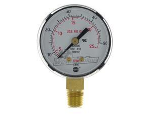 "Miller Smith GA136-03 2"" 50 CFM / 25 LPM Replacement Gauge"