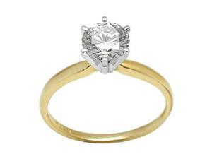 0.80 CT GH/SI 14K GOLD DIAMOND SOLITAIRE RING