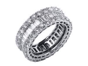 4.29 CT VVS 18K GOLD WHITE DIAMOND WEDDING RING BAND