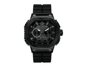 Marc Ecko Men's E17503G1 The Tractor Flexible Tank Belt Inspired Silicone Strap with Keeper Lock Watch