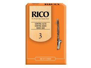 Rico RFA1030 Contra Bass Clarinet Reeds 10 CT, 3.0 Strength