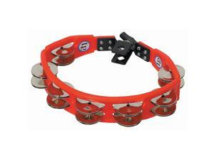 Latin Percussion LP161 Cyclops Drum Set Mountable Tambourine Steel Jingles Red
