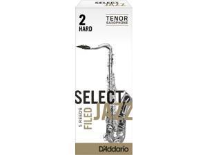 Rico Select Jazz Tenor Saxophone Reeds 5 Pack Filed 2 Hard Strength