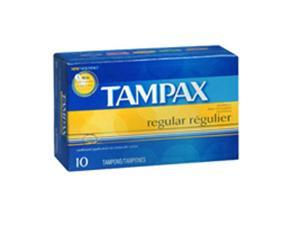 Tampax Tampons With Flushable Applicators Regular, 10 each by Tampax