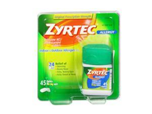 Zyrtec 24 Hour Allergy 10 mg Tablets - 45 ct