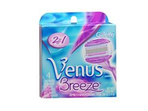 Gillette Venus Breeze 2 in 1 Cartridges with Shave Gel Bars - 4 ct