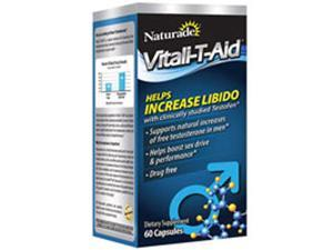 Vitali-T-Aid Natural Free Testosterone Booster, 60 Caps by Naturade