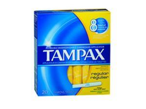 Tampax Tampons With Flushable Applicator Regular Absorbency, 20 each by Tampax