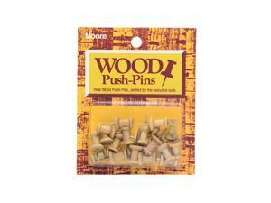 Moore Push Pins golden oak wood pack of 20