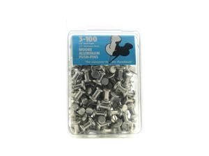 Moore Push Pins aluminum pack of 100 [Pack of 2]