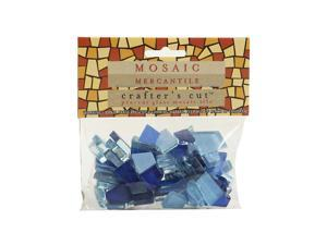 Mosaic Eye Publishing Crafter's Cut Solid Mosaic Tiles clear sky 1/3 lb. bag