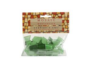 Mosaic Eye Publishing Crafter's Cut Solid Mosaic Tiles grass valley 1/3 lb. bag