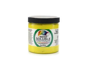 Speedball Art Products Water Soluble Screen Printing Ink yellow 8 oz.  [Pack of 2]