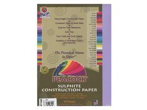 Pacon Peacock Construction Paper lilac 9 in. x 12 in.