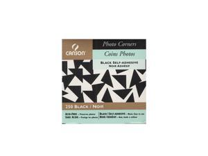 Canson Self-Adhesive Acid-Free Photo Corners black  [Pack of 4]