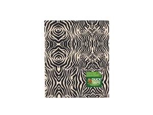 Duck Duct Tape Sheets 8 1/4 in. x 10 in. zig-zag zebra each [Pack of 8]