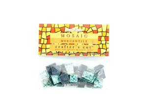 Mosaic Eye Publishing Crafter's Cut Gems - Sparkle Series aqua 3/16 in. 1/6 lb. bag