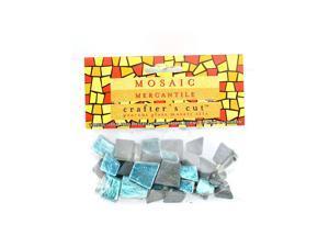 Mosaic Eye Publishing Crafter's Cut Gem Mosaic Tiles Shimmer teal 1/6 lb. bag