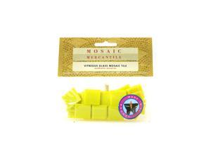 Mosaic Eye Publishing Solid Color Vitreous Glass Mosaic Tile canary 3/4 in. pack of 24