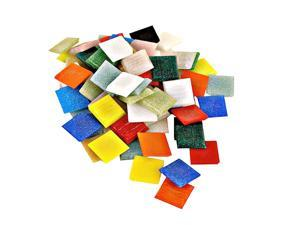 Mosaic Eye Publishing Solid Color Vitreous Glass Mosaic Tile assorted 3/4 in. 1/2 lb. bag [Pack of 2]