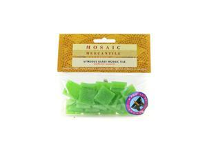 Mosaic Eye Publishing Solid Color Vitreous Glass Mosaic Tile lime 3/4 in. pack of 24