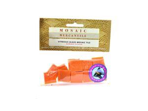 Mosaic Eye Publishing Solid Color Vitreous Glass Mosaic Tile tangerine 3/4 in. pack of 24