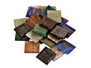 Mosaic Eye Publishing Vitreous Glass Mosaic Tiles -- Metallic Colors assorted 3/4 in. pack of 24