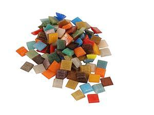 Mosaic Eye Publishing Solid Color Vitreous Glass Mosaic Tile assorted 3/8 in. 1/6 lb. bag