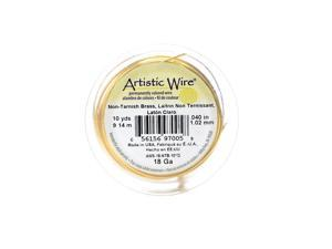 Artistic Wire Spools 20 ft. non-tarnish brass 18 gauge [Pack of 4]