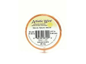 Artistic Wire Spools 30 yd. natural 26 gauge [Pack of 4]
