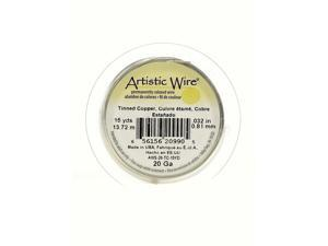 Artistic Wire Spools 15 yd. tinned copper 20 gauge [Pack of 4]