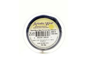 Artistic Wire Spools 10 yd. dark blue 18 gauge [Pack of 4]