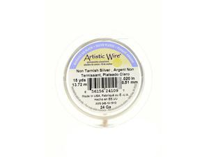 Artistic Wire Spools 15 yd. non-tarnish silver 24 gauge, silver plated [Pack of 4]