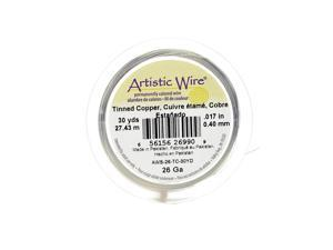 Artistic Wire Spools 30 yd. tinned copper 26 gauge [Pack of 4]