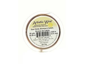 Artistic Wire Spools 20 yd. antique brass 24 gauge