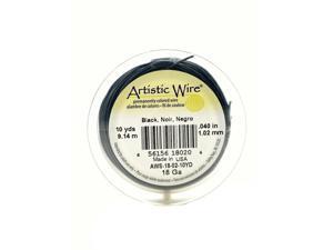 Artistic Wire Spools 10 yd. black 18 gauge [Pack of 4]