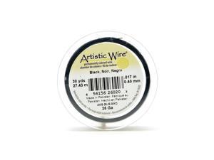 Artistic Wire Spools 30 yd. black 26 gauge [Pack of 4]