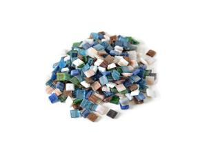 Mosaic Eye Publishing Vitreous Glass Mosaic Tiles -- Metallic Colors assorted 3/8 in. 1/2 lb. bag