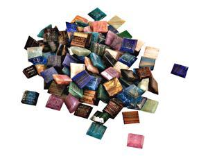 Mosaic Eye Publishing Vitreous Glass Mosaic Tiles -- Metallic Colors assorted 3/8 in. 1/6 lb. bag
